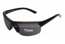 Mangrove Jacks Ratbag M4873E Replacement Sunglass Lenses - 71mm Wide **MUST BE INSTALLED BY THE SUNGLASS FIX**