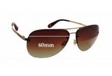 MARC BY MARC JACOBS MMJ 164/S Replacement Sunglass Lenses - 60mm wide x 52mm tall
