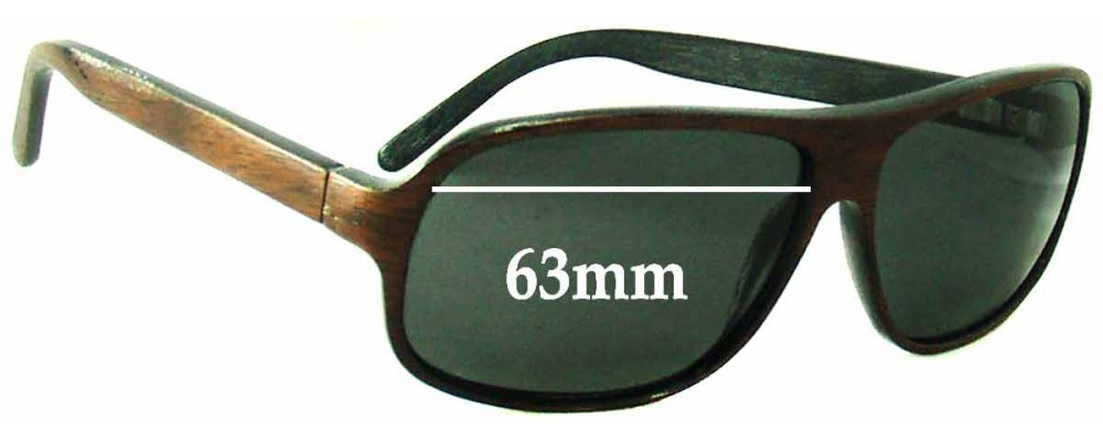 67889b4c608f Martin   Macarthur Moorea (Koa Wooden) Replacement Sunglass Lenses - 63mm  Wide