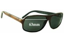 Martin & Macarthur Moorea (Koa Wooden) Replacement Sunglass Lenses - 63mm Wide