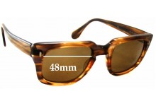 MARTIN WELLS Nero Replacement Sunglass Lenses - 48mm wide