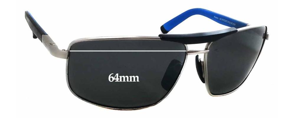 Maui Jim 271 Keanu Replacement Sunglass Lenses - 64mm Wide