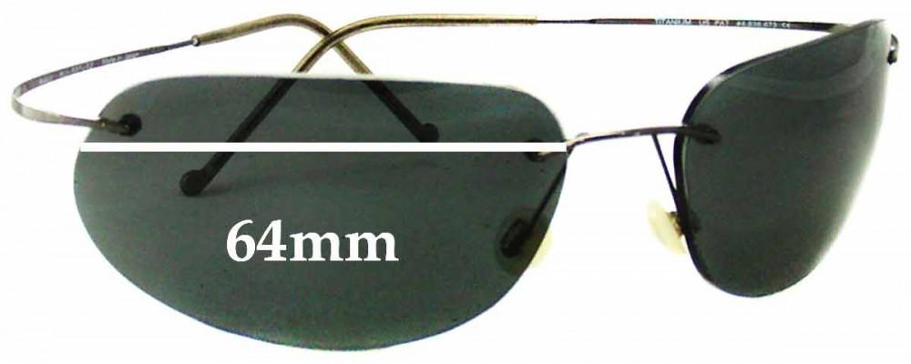 Maui Jim MJ501 Ka'anapali Titanium Replacement Sunglass Lenses - 64mm Wide