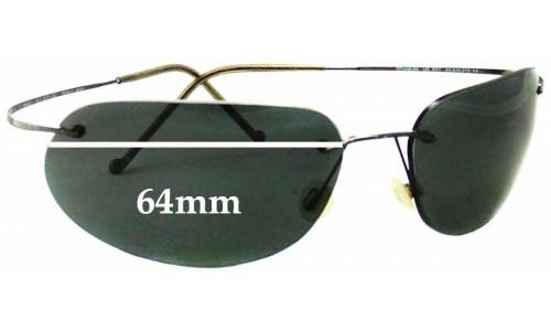 Sunglass Fix Replacement Lenses for Maui Jim MJ501 Ka'anapali Titanium - 64mm Wide
