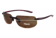 Maui Jim MJ912 Banyans RX Replacement Sunglass Lenses - 70mm wide *(Newer Version - With Gaskets for Bigger Holes)