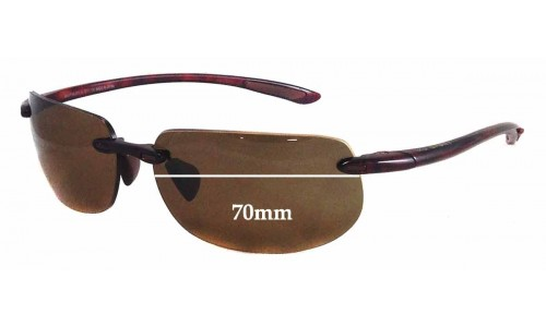 188cc7735b Maui Jim MJ912 Banyans RX Replacement Lenses - 70mm wide  (Newer Version -  With Gaskets for Bigger Holes)
