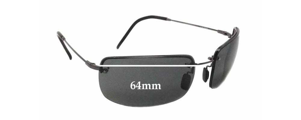 Maui Jim MJ351 Moana Flexon Replacement Sunglass Lenses - 64mm wide x 40mm tall