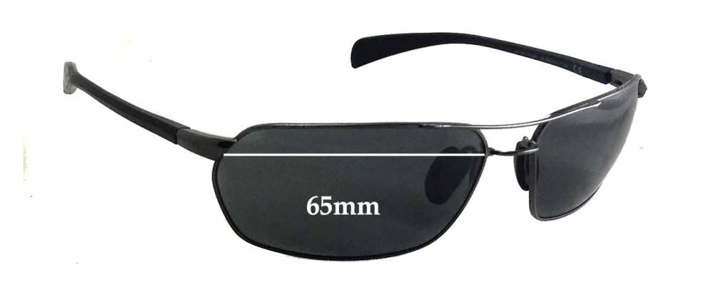 Maui Jim Gulch MJ324 Replacement Sunglass Lenses - 65mm wide - 39mm tall