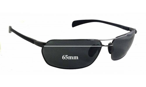 Maui Jim Gulch MJ324 Replacement Sunglass Lenses - 65mm wide - 39mm tall