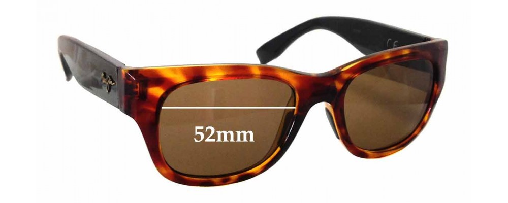 Maui Jim Kahoma 285 Replacement Sunglass Lenses - 52mm wide