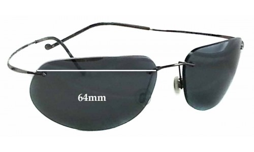 Sunglass Fix Replacement Lenses for Maui Jim MJ502 Kapalua - 64mm Wide *Please measure as there are size variations*