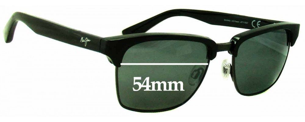 Maui Jim MJ257 Kawika Replacement Sunglass Lenses - 54mm Wide