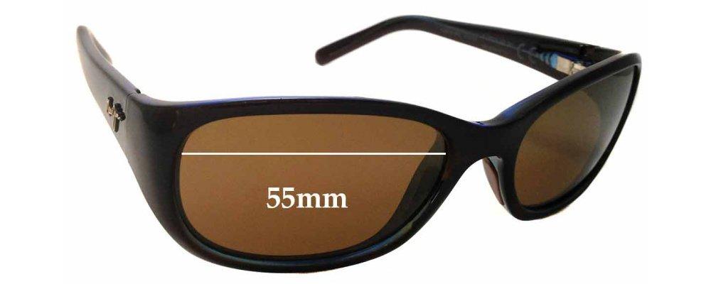 dae44c75107 Maui Jim Kuiaha Bay MJ286 Replacement Sunglass Lenses - 55mm Wide