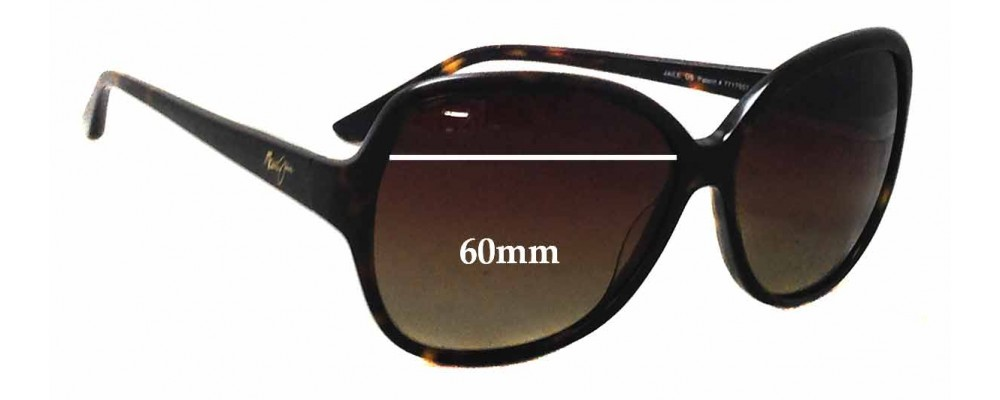 Maui Jim Maile MJ294 Replacement Sunglass Lenses - 60mm wide