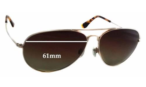 Sunglass Fix Replacement Lenses for Maui Jim Mavericks MJ264 - 61mm wide - 50mm tall