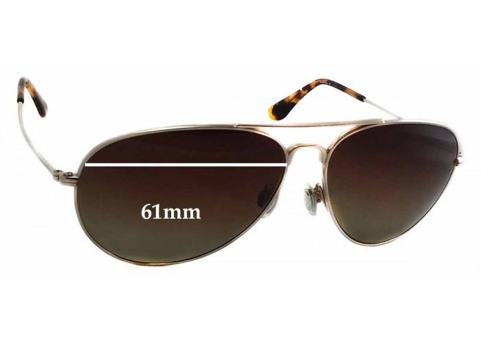 SFX Replacement Sunglass Lenses fits Maui Jim MJ205 Bayfront 61mm Wide