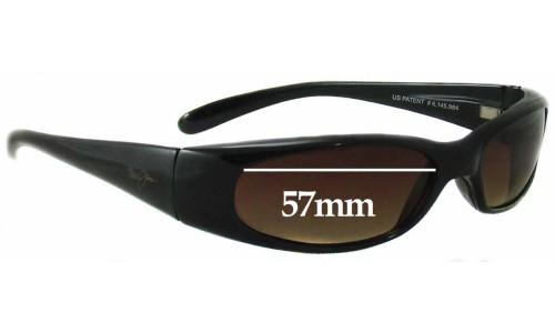 Sunglass Fix Replacement Lenses for Maui Jim MJ108 Seafarer - 57mm Wide