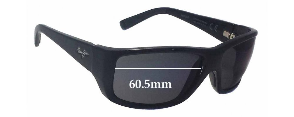 1ad802ced2815 Maui Jim MJ123 WASSUP Replacement Lenses 60.5mm Wide by The Sunglass ...