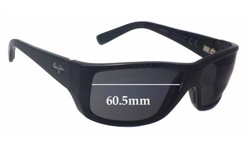 Maui Jim MJ123 WASSUP Replacement Sunglass Lenses - 60.5mm Wide