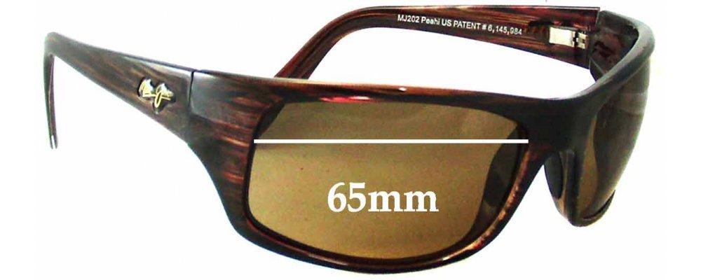 Maui Jim Sunglasses Guarantee  jim peahi mj202 replacement sunglass lenses 65mm wide