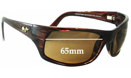 Maui Jim Peahi MJ202 Replacement Sunglass Lenses - 65mm Wide