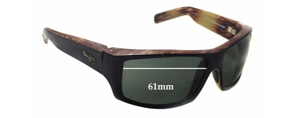 Maui Jim Kaimana MJ204 Replacement Sunglass Lenses - 61mm wide - 38mm tall