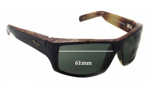 Maui Jim Kaimana MJ204 Replacement Sunglass Lenses - 61mm wide - 38mm tall