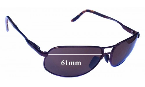 Maui Jim MJ205 Bayfront Replacement Sunglass Lenses - 61mm wide