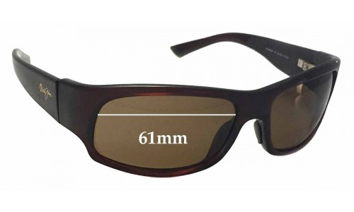 Maui Jim MJ222 Longboard Replacement Sunglass Lenses - 61mm Wide