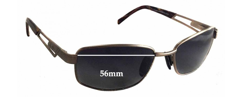 Maui Jim MJ227 Replacement Sunglass Lenses - 56mm wide - 35mm tall