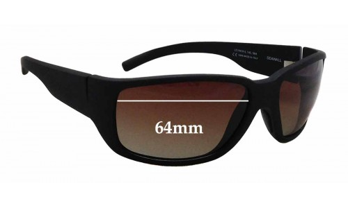Maui Jim MJ235 Seawall Replacement Sunglass Lenses - 64mm wide