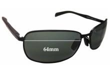 Maui Jim Long Beach MJ240 Replacement Sunglass Lenses - 64mm Wide