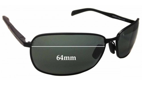 Maui Jim Long Beach MJ240 Replacement Sunglass Lenses - 64mm Wide