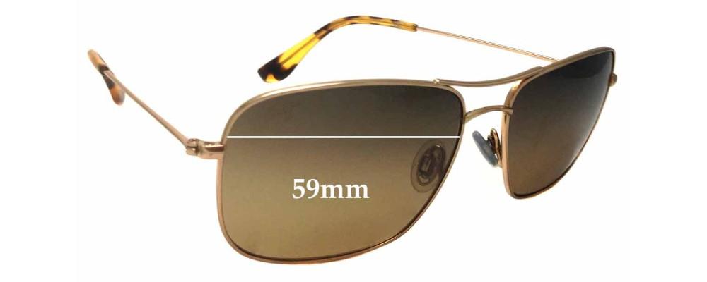 Maui Jim MJ246 Wiki Wiki Replacement Sunglass Lenses - 59mm wide