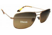 Maui Jim MJ246 Wiki Wiki Replacement Sunglass Lenses - 59mm wide