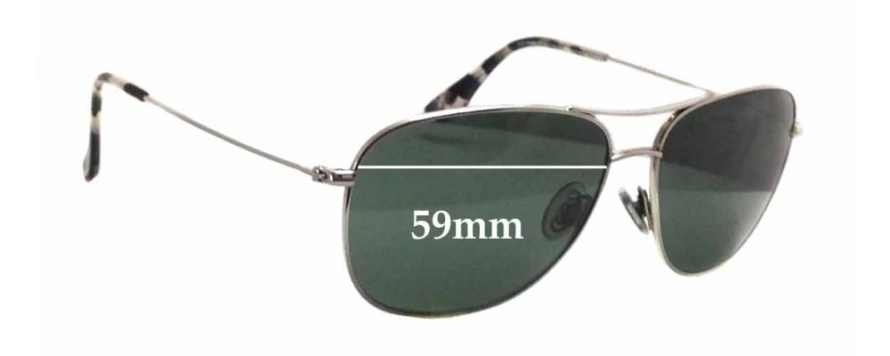d81aa3ef34823 Maui Jim MJ247 Cliff House Replacement Sunglass Lenses - 59mm wide