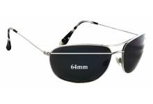 Maui Jim MJ248 Hideaways Replacement Sunglass Lenses - 64mm Wide