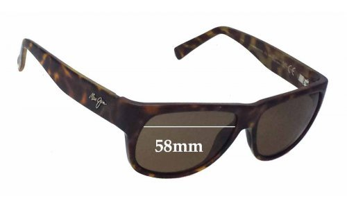 Maui Jim Makawao MJ282 Replacement Sunglass Lenses - 58mm Wide