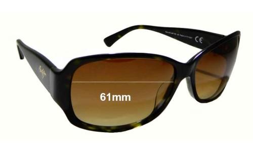 Maui Jim Nalani MJ295 Replacement Sunglass Lenses - 61mm wide