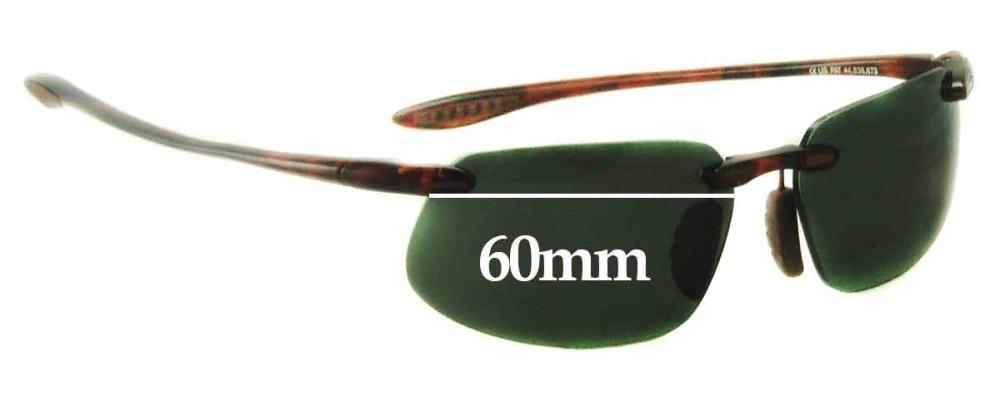 c9bc0d4c46 Maui Jim MJ409 Prescription Version Frames - non prescription Lens  Replacement - 60mm Wide