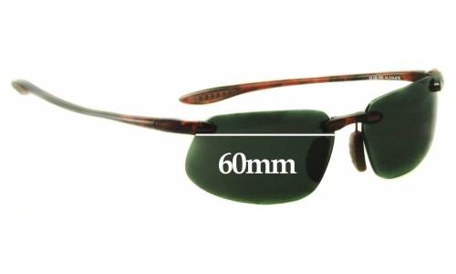 Maui Jim MJ409 Prescription Version Frames - non prescription Lens Replacement - 60mm Wide
