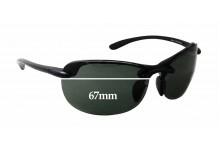 212d59ecf95b Maui Jim MJ413 Hanalei Replacement Sunglass Lenses - 67mm wide x 41mm tall