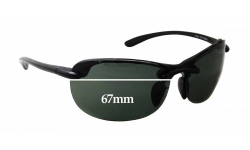 Maui Jim MJ413 Hanalei Replacement Sunglass Lenses - 67mm wide x 41mm tall