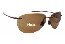 Maui Jim Sugar Beach MJ421 Replacement Sunglass Lenses - 64mm wide