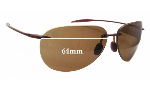 Maui Jim Sugar Beach MJ421 Replacement Sunglass Lenses - 64mm wide
