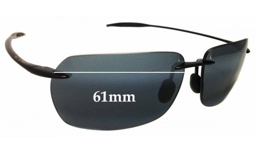 Maui Jim Banzai MJ425 Replacement Sunglass Lenses - 61mm Wide