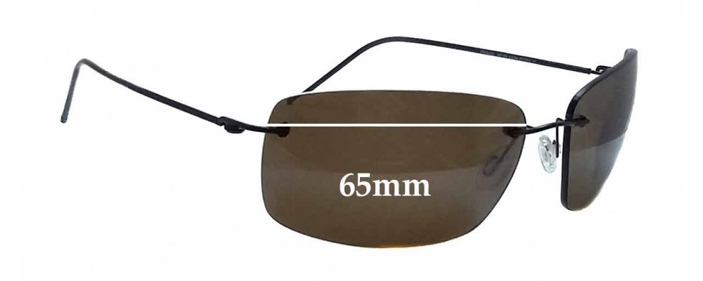 Maui Jim Frigate MJ716 Replacement Sunglass Lenses - 65mm wide