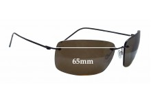 Maui Jim Frigate MJ716 Replacement Sunglass Lenses - 65mm wide