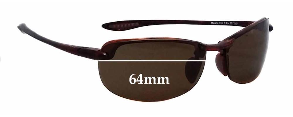 120b400658776 Maui Jim Sport Makaha H-805 Replacement Sunglass Lenses - 64mm wide