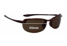 Maui Jim Sport Makaha H-805 Replacement Sunglass Lenses - 64mm wide